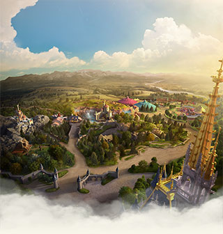 Interprétation artistique du New Fantasyland au parc Magic Kingdom à Orlando, Floride