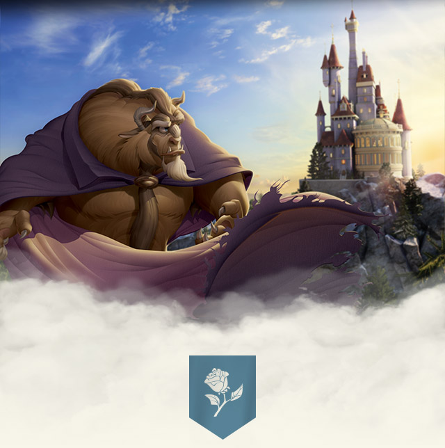 Beast stands in front of his castle in New Fantasyland at Walt Disney World Resort.