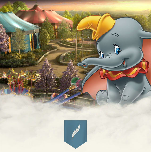 Dumbo el elefante en Storybook Circus en New Fantasyland en Magic Kingdom.